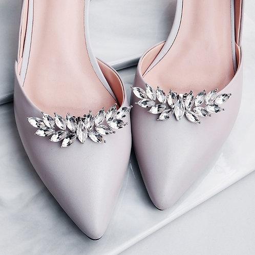 BOUGH Boho Crystal Bridal Shoe Clips
