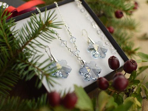 SNOWFLAKES Magic Swarovski Blue Shade Crystal Set