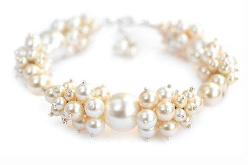 CYNTHIA Creamrose Light & Gold Light Pearl Swarovski Bracelet
