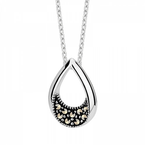 Epoque Royale and Marcasite Retro Rhodium-plated Chain Necklace