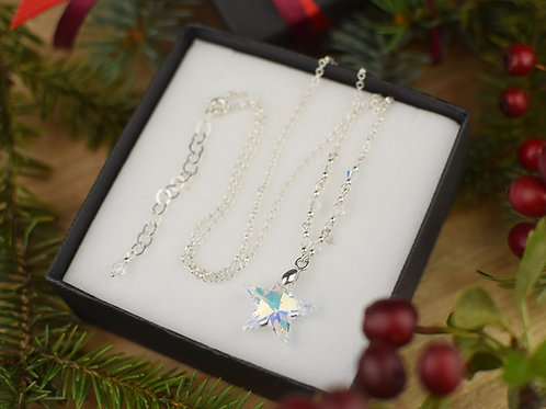 STAR Magic Swarovski Aurora Borealis Crystal Necklace