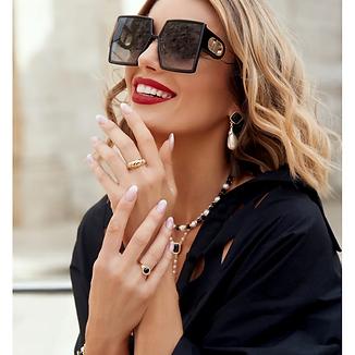 MEA Crystal Black Pearl Gold Earrings b.webp