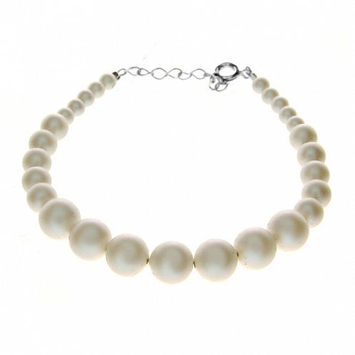 LETTY Swarovski Classic Ecru Pearl Bracelet