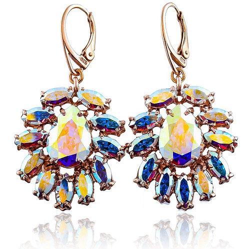 AZURE Aurora Rose Gold Crystal Swarovski Earrings