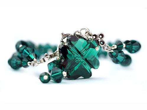 LUCKY Ultimate Emerald Swarovski Crystal Bracelet