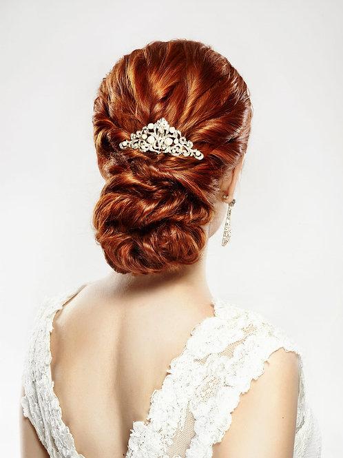 CARMEN Vintage Inspired Pearl & Crystal Bridal Hair Comb