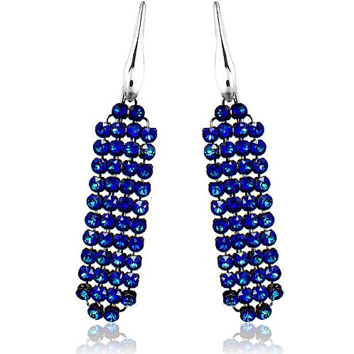 BERMUDA Blue Crystal Swarovski Earrings