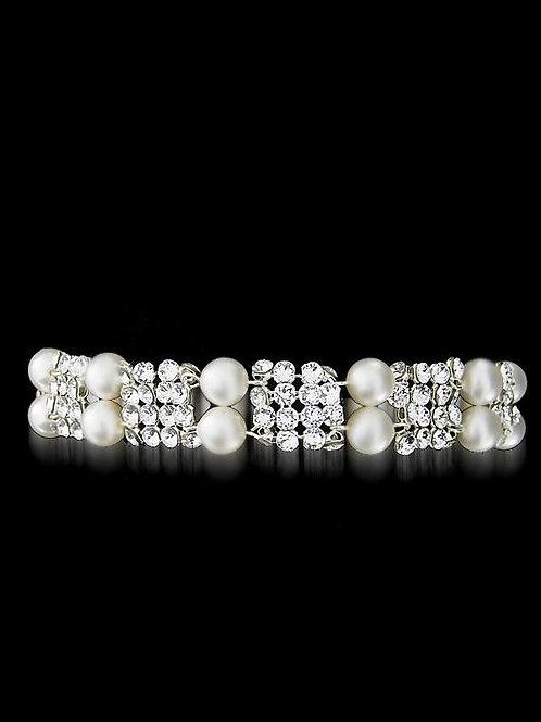 MARILYN Swarovski Pearl Crystal Vintage Bracelet