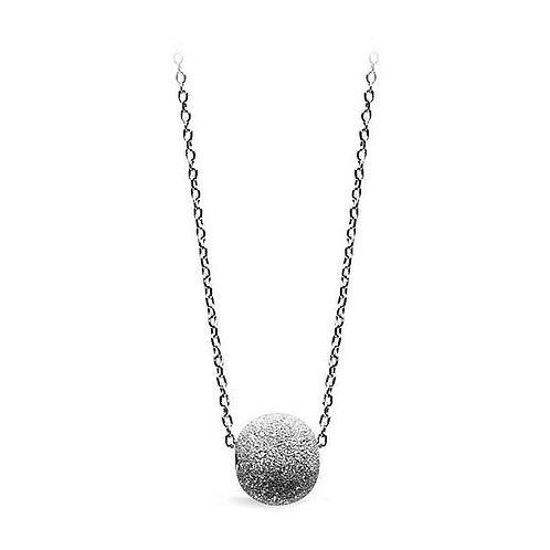 ELSA Brushed Floating Ball Silver Necklace