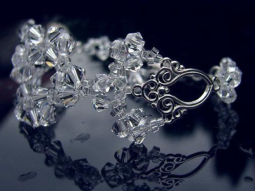 LACEY Vintage Style Filigree Swarovski Crystal Bracelet