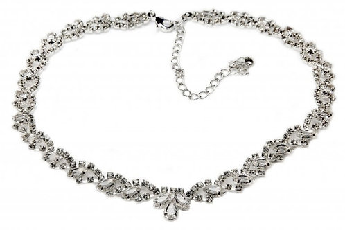 ANASTASIA Swarovski Lace Necklace with Crystals