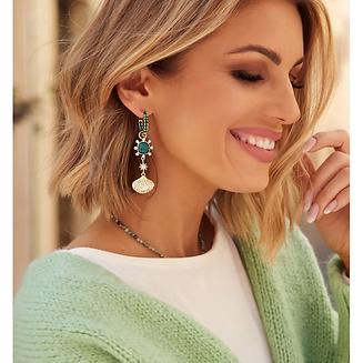 GLAM Crystal Long Gold Earrings  a.webp