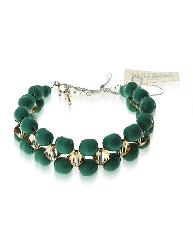 EVITA Swarovski Double Row Pearl Bracelet
