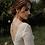 Thumbnail: EMMA Boho Leaves Swarovski Aurora Borealis Crystals Modern Back Necklace