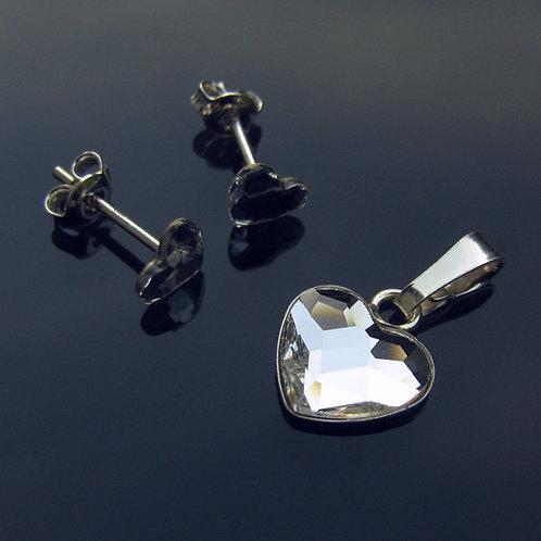 LOVELY Heart Swarovski Crystal F Set