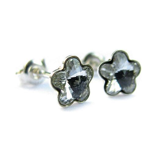 DAISY Crystal F Flower Swarovski Earrings