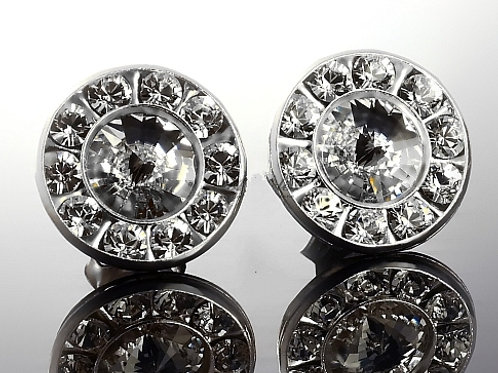 PARIS Swarovski Crystal Silver Stud Earrings