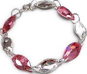 ROSE Dragon Leaf Crystal Swarovski Bracelet