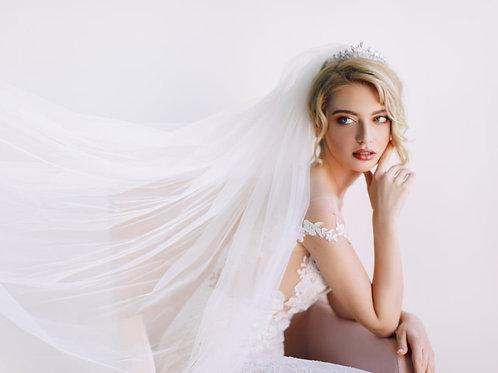 CHARLENE Crystal Bridal Crown - Tiara