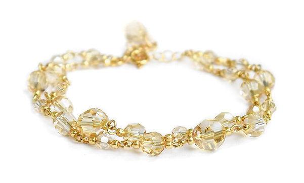 JASMINE Gold & Golden Shadow Crystal Swa