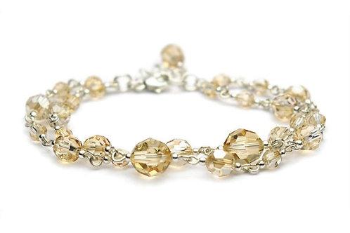 JASMINE Double Golden Shadow Crystal Swarovski Bracelet