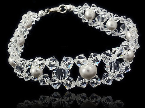VANESSA Swarovski Pearl Crystal Bracelet