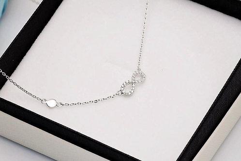 INFINITY Celebrity Cubic Zirconia Silver Necklace