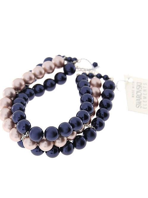 LILA Swarovski Triple Strand Pearl Bracelet