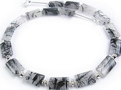 Tourmalinated Quartz Silver Necklace