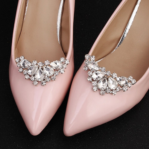 MOON Crystal Bridal Shoe Clips