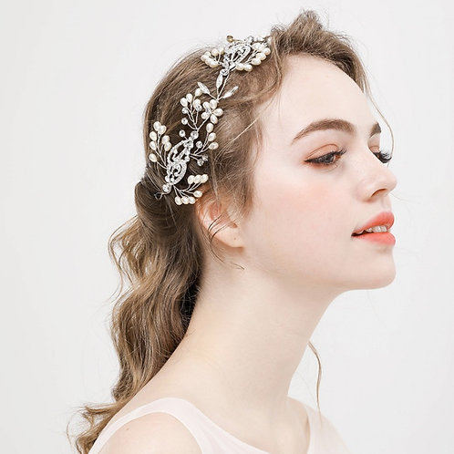 ARIELA Crystal Boho Bridal Headband