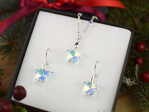 STARS Magic Swarovski Aurora Borealis Crystal Earrings