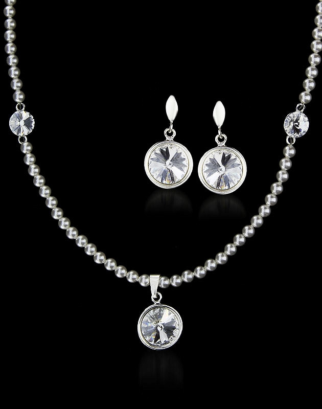 MARGOT Swarovski Pearls and Crystals Luxury Set