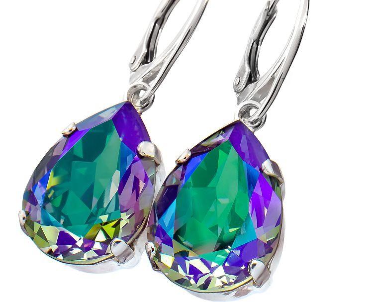 PARADISE Shine Pear Drop Swarovski Crystal Earrings