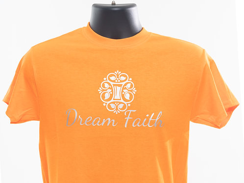 Adult T-Shirt (Logo centered) Orange, Yellow, Pink, Green, (Purple), Red, White