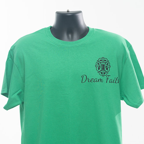 Adult T-Shirt (Logo  left Shoulder)  Black, Green, Pink, Yellow, Red, white