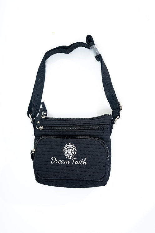 Black zipper cloth purse