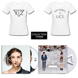 Kiz PACK Cd+Ep+T-Shirt