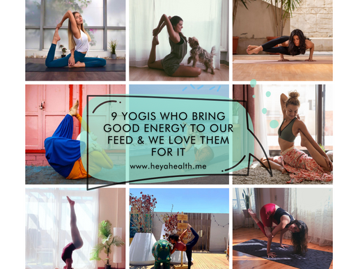 9 yogis who bring good energy to our feed & we love them for it