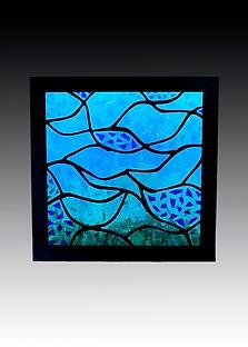 Light Black Coral Metal Framed Glass 24x