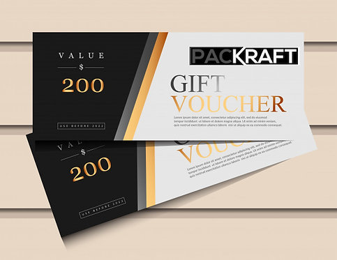 Packraft Gift e-Vouchers
