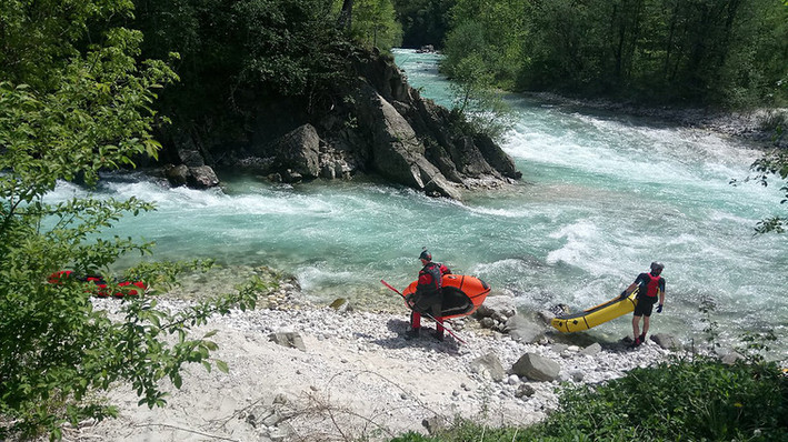 Soca River, Slovenia during the first European Packraft Meetup