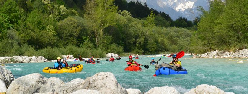 Soca River, Slovenia, the first European Packraft Meetup