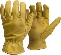 TKO - Double Palm Elkskin Gloves, Medium