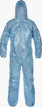 Jokater - FR Disposable Blue Coverall With Hood, Elastic Wrist and Ankle Large