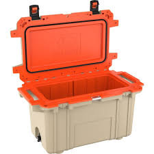 Pelican - 50 Qt. Cooler, Tan/Orange