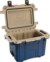 Pelican - 50 Qt. Cooler, Pacific Blue/Coyote Tan