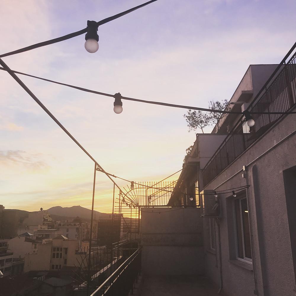 Ανατολή στο μπαλκόνι του εργαστηρίου