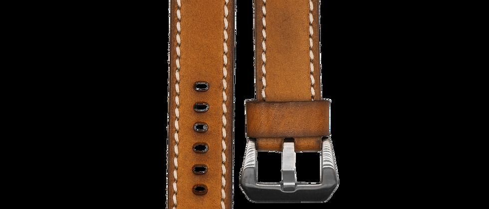 "Single-Looped Leather ""Rustic Brown"""
