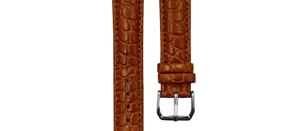 "Crocodile Embossed Leather ""Tanned"""